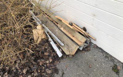 Ta reda på bygg- och trädgårdsavfall!